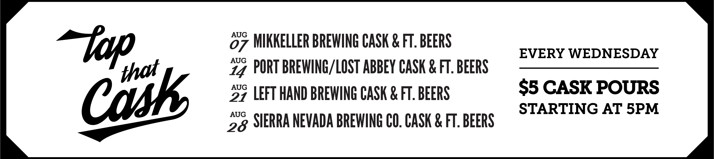 Tap That Cask - August 2019
