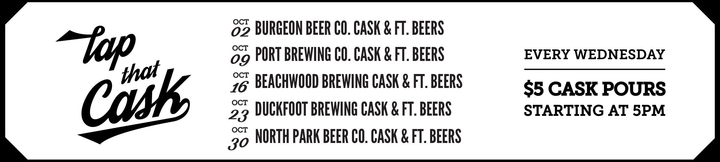 Tap That Cask - October 2019