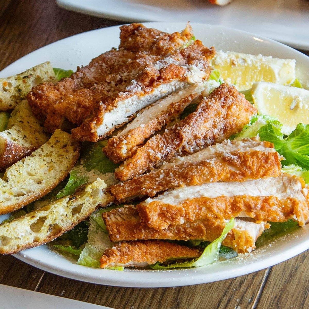 Fried Chicken Caesar Salad